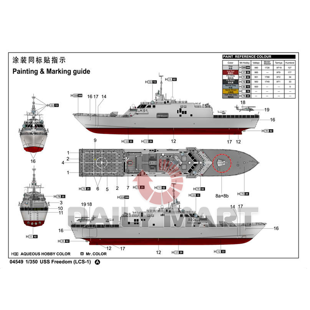 Trumpeter 1 350 04549 uss freedom lcs 1 model kit - Uss freedom lcs 1 photos ...