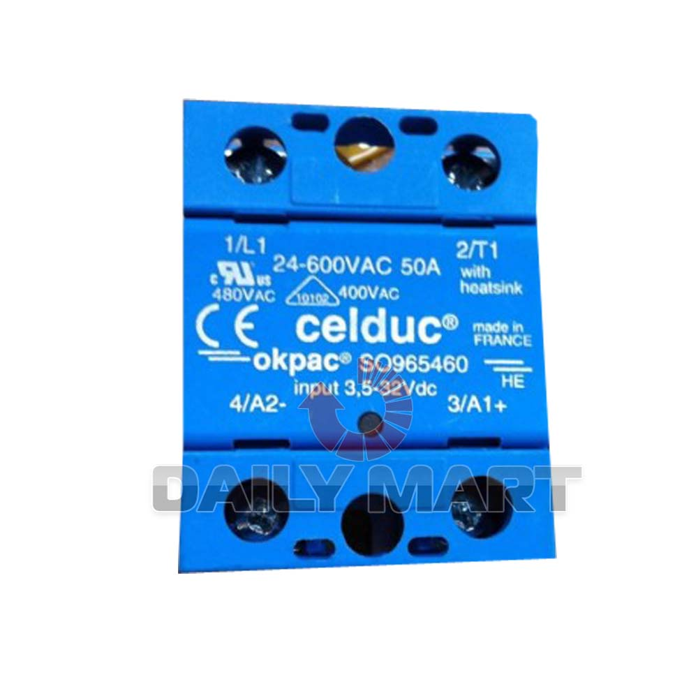 Brand New Celduc Okpac Solid State Relay SO965460 50A//24-600VAC PLC