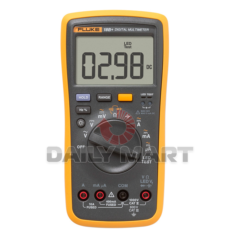 Fluke Voltmeter Tester : New fluke b led test digital multimeter ac dc