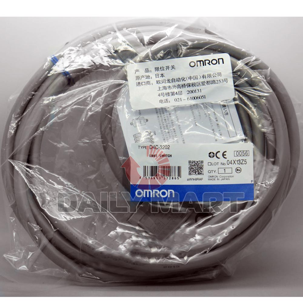 New Omron D4c 3202 General Purpose Roller Type Limit